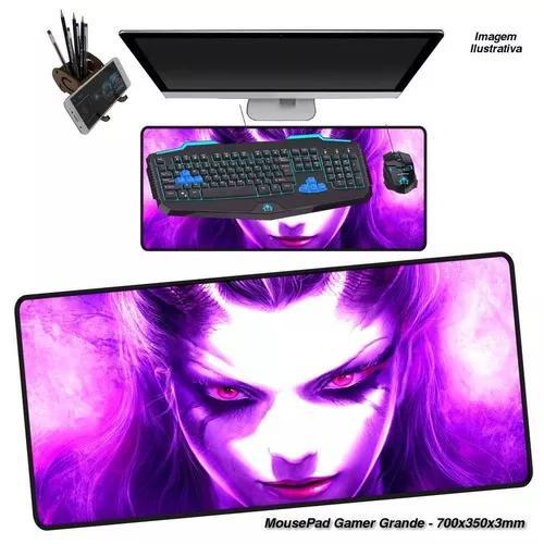 Mouse pad gamer grande extra grande 70x35 cm 3mm / dota 2.