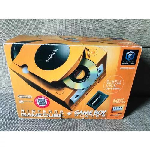 Raro game cube laranja japonês com game boy player