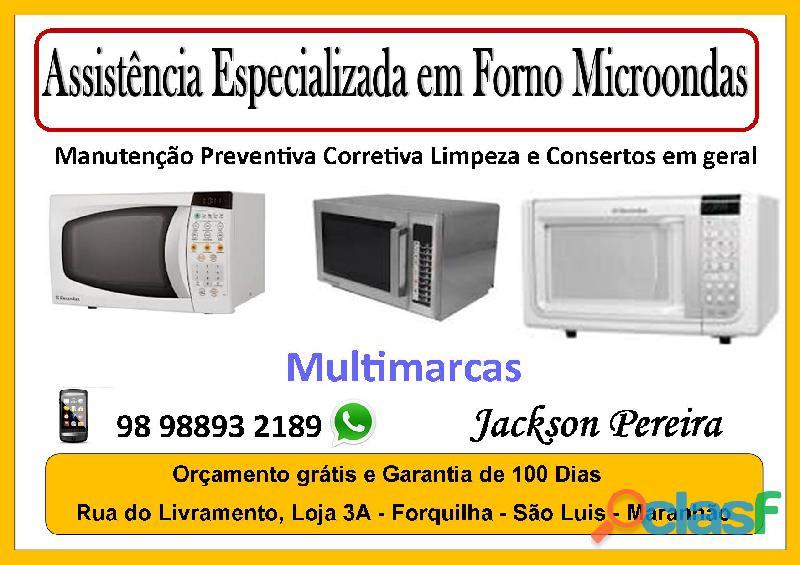 Conserto em forno elétrico e microondas em são luis maranhão