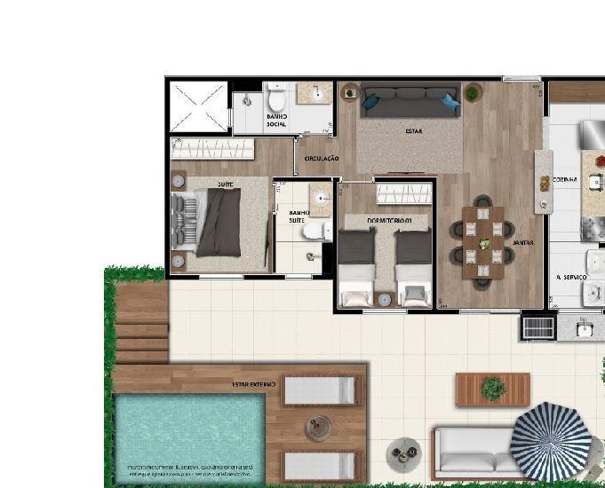 Primeiro home resort de ubatuba (apartamentos na planta)