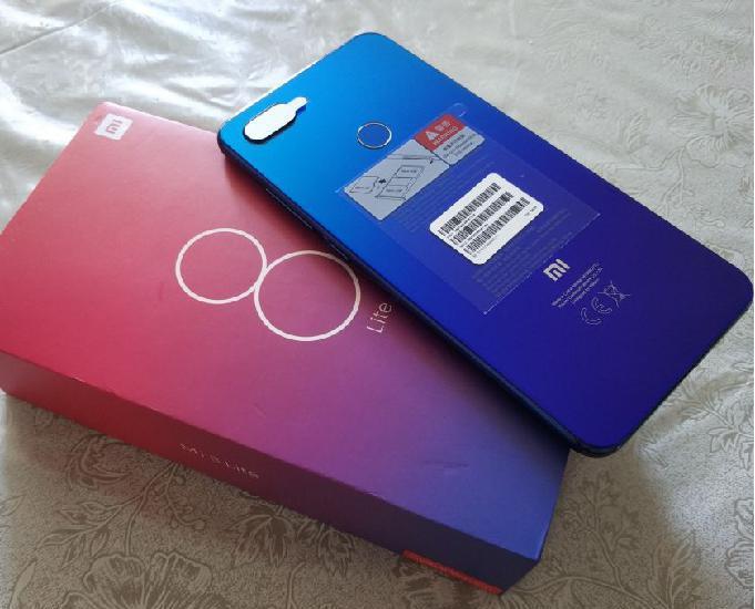 Xiaomi mi 8 lite de 64gb azul novo lacrado na caixa