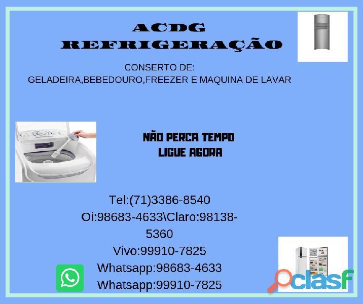 Acdg refrigeração conserto de geladeira bahia