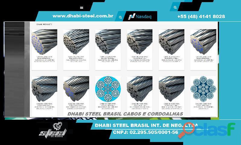 Dhabi steel   cordoalhas de aço galvanizado, zincado polido   venha para o nosso time