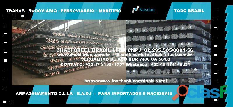 Dhabi steel   vergalhão de aço em barras retas   trabalhe com a gente
