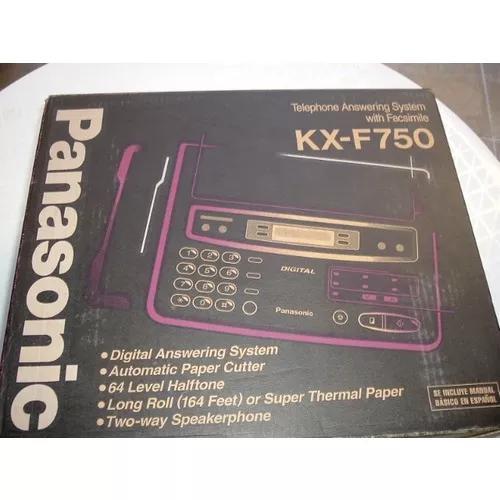 Aparelho fax panasonic kx-f750 - na caixa do fabricante