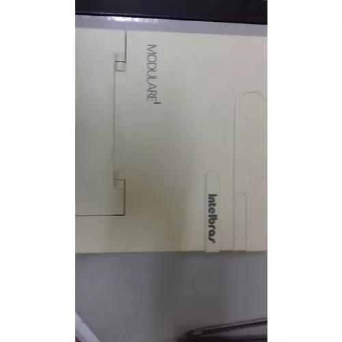 Central pabx intelbras modularei equipada com 4x12