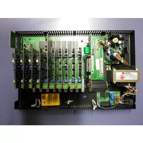 Central telefonica intelbras corp 8000 equipada 6/24