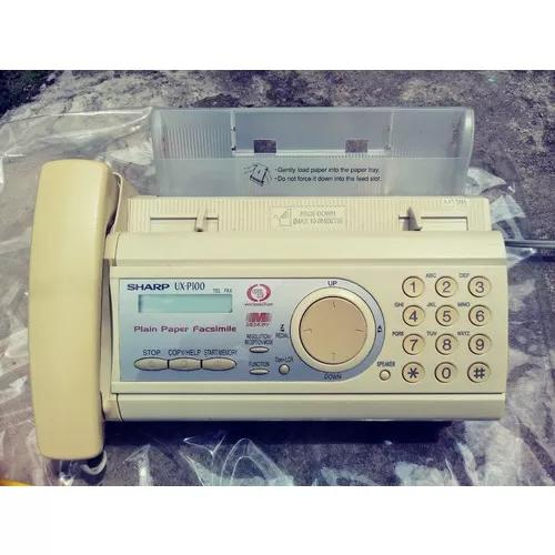 Fax sharp ux-p100 - fax - telefone - copiadora