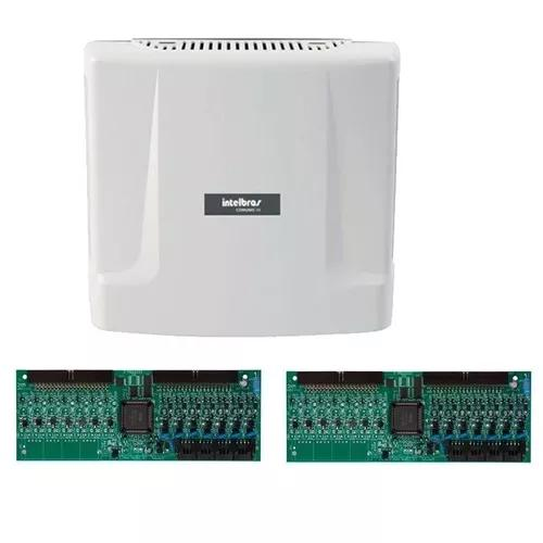 Kit central comunicação intelbras comunic 48 placa 16 ram
