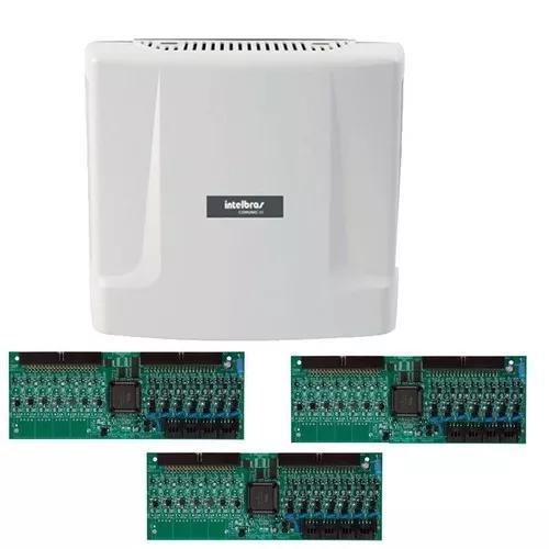Kit central comunicação intelbras comunic 48 placa 24 ram
