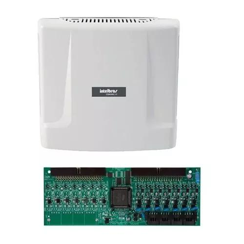 Kit central comunicação intelbras comunic 48 placa 8 ram