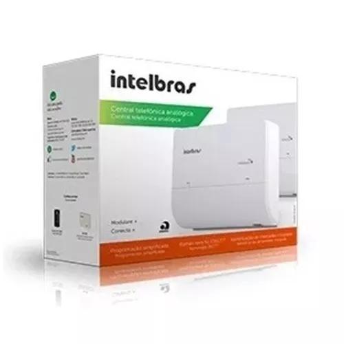 Kit central pabx intelbras modulare + com 4 linhas 8 ramais
