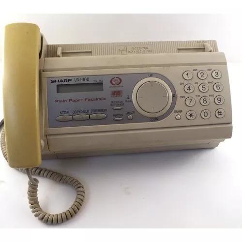 Scanner e fax sharp ux p100 simples funcionando branco a9578