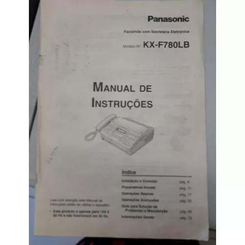 Telefone fax kx-f780lb