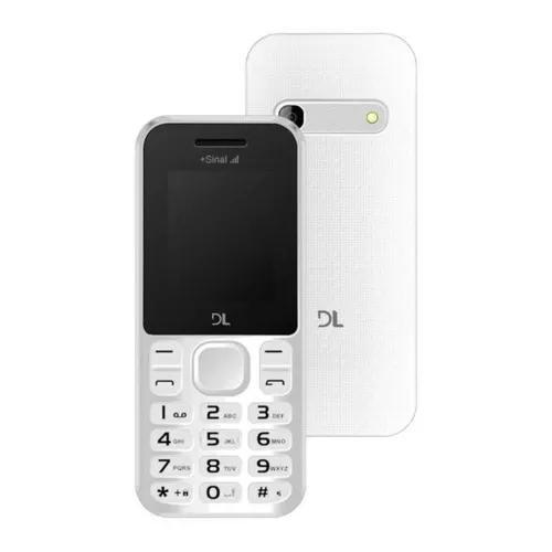 Celular dl yc210bra dual sim branco camera radio + nfe