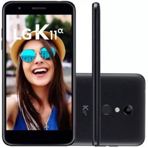 Celular lg k11 alpha lmx410btw dual 16gb tela 5.3 preto