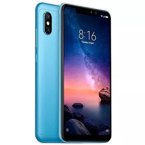 Celular xiaomi note 6 pro 64gb/4gb azul+capa+pelicula+fone