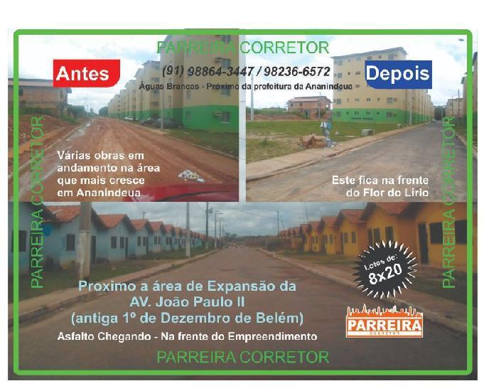 Av. joao paulo ii, terrenos só r$ 11.500,00 a vista