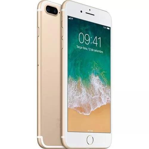 Iphone 7 plus 128 dourado 5,5 lacrado nota fiscal