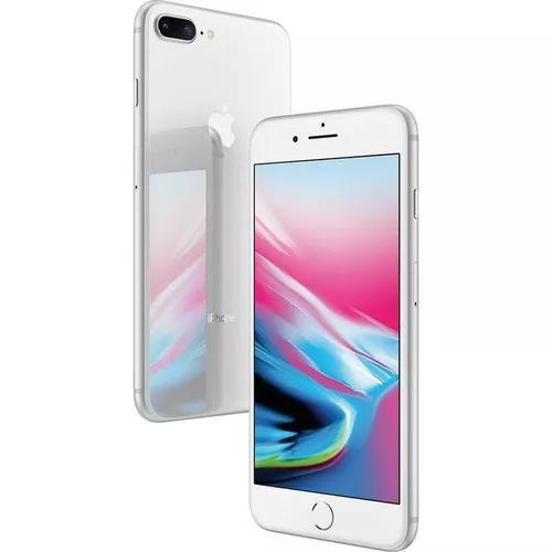 Iphone 8 plus 64gb prateado (novo) original + nf