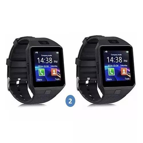 Kit 2 relógio celular watch zd09 c/ chip câmera som