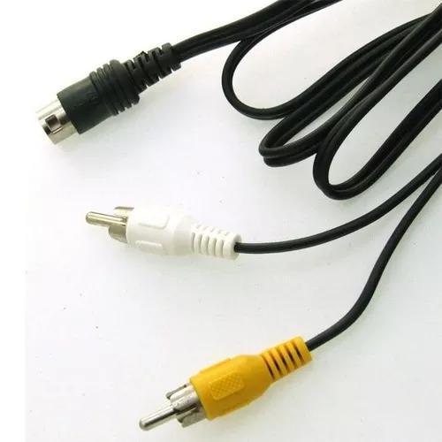 Cabo av audio e video para mega drive 1, 2 e pc engine