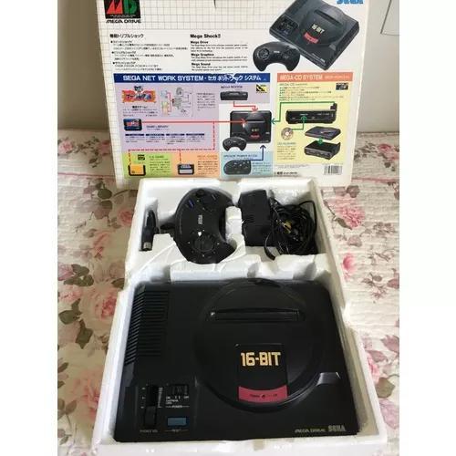Console mega drive 1 + caixa + controle + cabos e fonte +mod