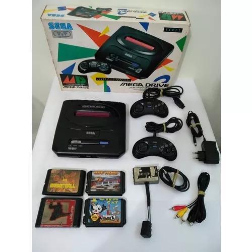 Console mega drive 2 japonês 2 controles frete grátis