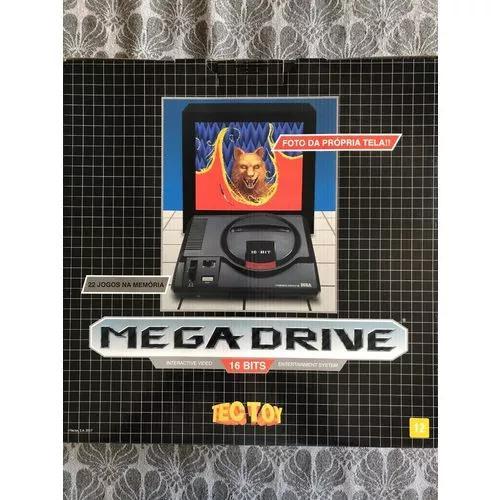 Console mega drive+ joystick+ cartão sd com 22 jogos+mídia