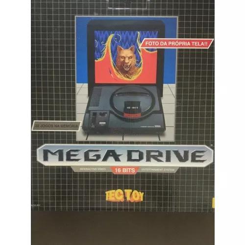 Console Mega Drive Tec Toy + Controle 22 Jogos Na M