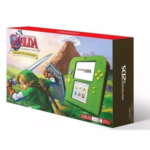Console nintendo 2ds original link zelda edition + game