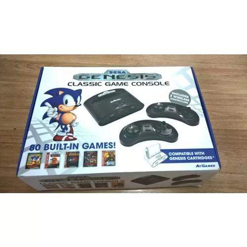 Console sega genesis classic game com 2 cartuchos originais