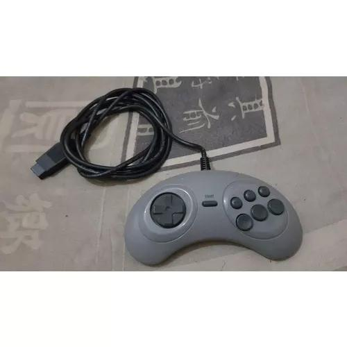 Controle original cinza de 6 botões para o mega drive d31