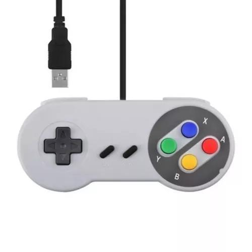 Controle Super Nintendo Snes Joystick Usb Jogos
