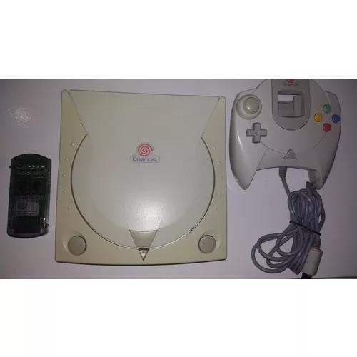 Dreamcast + 1 controle + vmu + 4 jogos