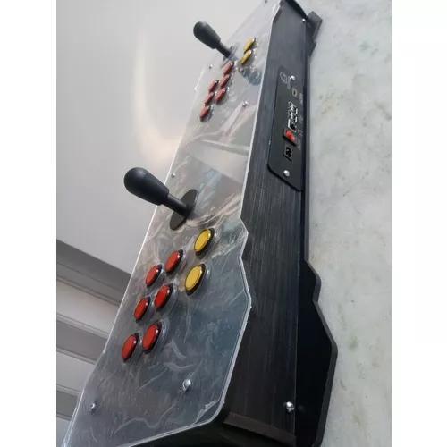 Fliperama portátil arcade 12 mil jogos - medidas 77x25x10