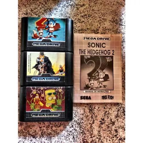 Jogos mega drive 3 / kit com 3 jogos