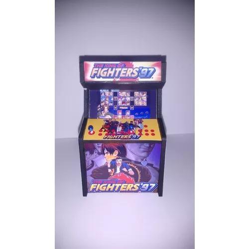 Kit 10 fliperama decorativo king of fighters games t
