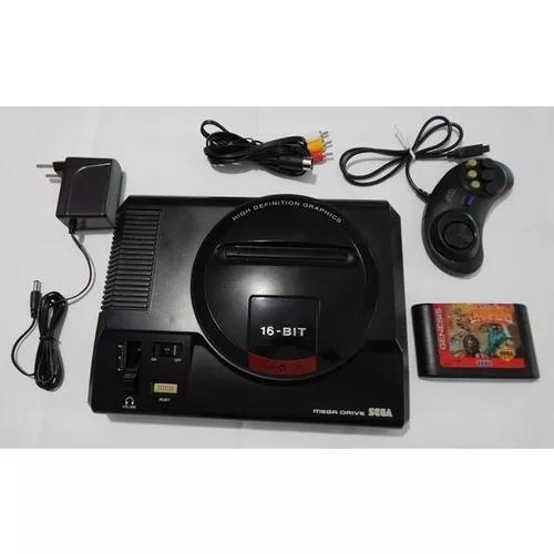 Mega drive 1 tec toy completo + jogo
