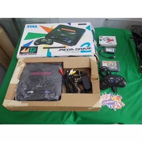 Mega drive 2 na caixa / 1 controle / 1 jogo cabo estéreo