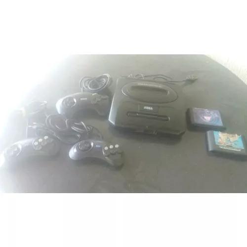 Mega drive 3 com 3 controles e 2 fitas