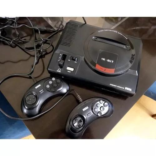 Mega drive completo original 1990 com 12 jogos 1 controle!