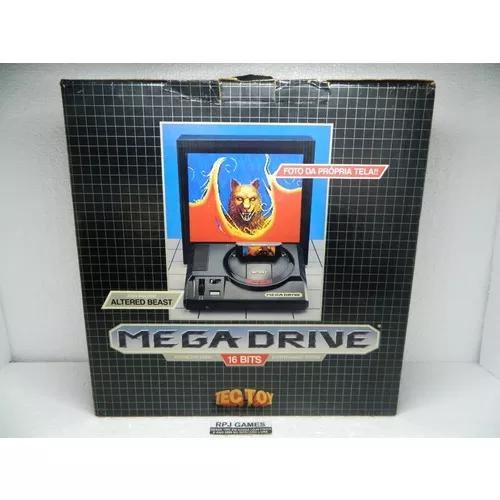 Mega drive pronto p/ jogar caixa manual isopor jogo controle