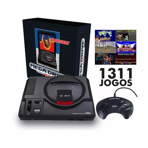Mega drive tec toy + 1 controle + 1311 jogos na m
