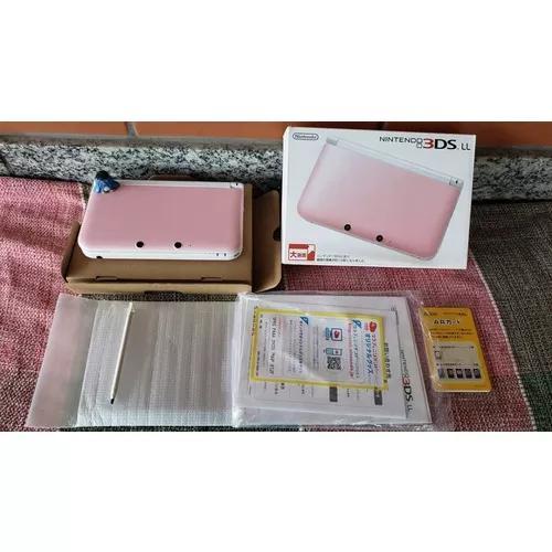 Nintendo 3ds Xl Console Rosa Japonês Ll Completo!