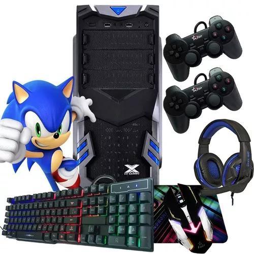 Pc gamer barato 8gb +kit gamer jogos programas joysticks