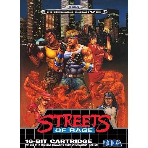 Pôster video game sega genesis mega drive streets of rage