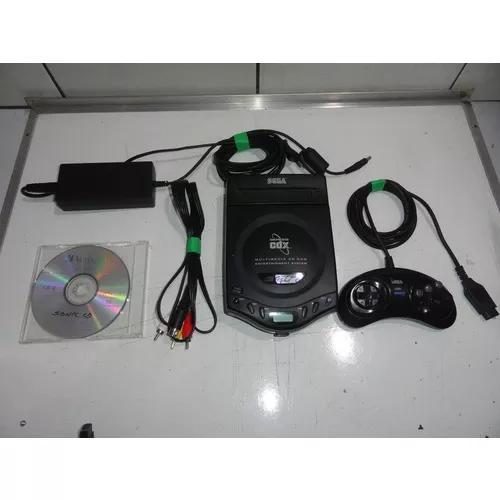 Sega cd cdx mega drive console tropicalizado rodando cdr c01