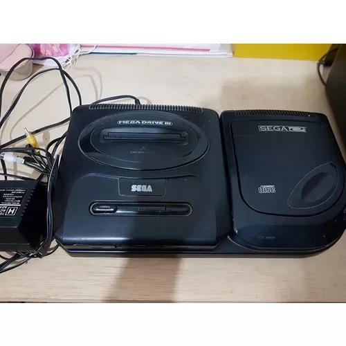 Sega cd com mega drive com 4 controles e 23 jogos