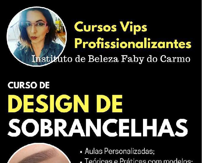 Curso de design de sobrancelhas profissional presencial